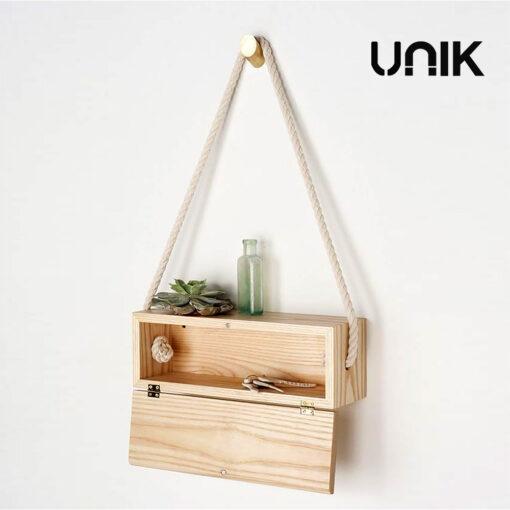 กล่องไม้สนแขวนผนัง unik