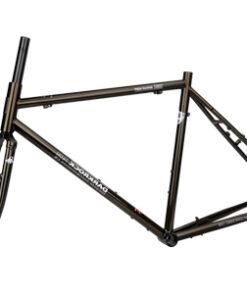 เฟรมจักรยานทัวร์ริ่ง Darkrock Reynolds 520 ประกอบรถ สีน้ำตาล สีดำ