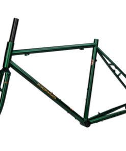 เฟรมจักรยานทัวร์ริ่ง Darkrock Reynolds 520 ประกอบรถ สีเขียว