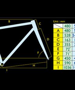 เฟรมจักรยาน Solu Reynolds 725 Spec สเปคเฟรม