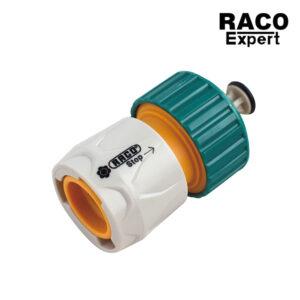 Raco Expert RT55206C ข้อต่อสายยาง แบบมีวาล์ว ขนาด 3.4 หรือ 6 หุน