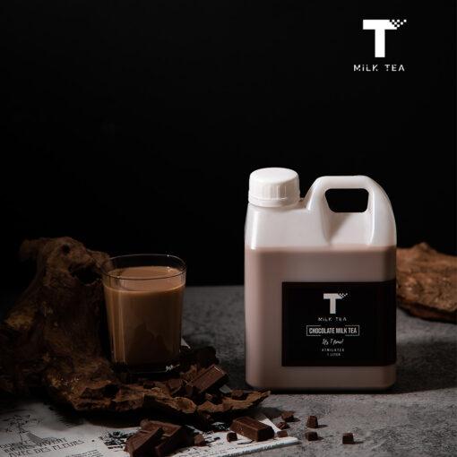 Tmilktea ชานมรสช็อคโกแลต 1 ลิตร