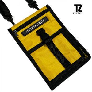 TZ กระเป๋า pocket สะพายไหล่ สีเหลือง