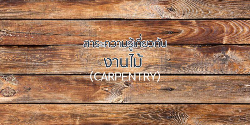 สาระความรู้เกี่ยวกับงานไม้ Carpentry