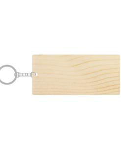 ป้ายพวงกุญแจไม้ พร้อมแกะสลัก ทรงสี่เหลี่ยมผืนผ้า(Rectangle) ไม้สน