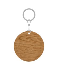 ป้ายพวงกุญแจไม้ พร้อมแกะสลัก ทรงกลม(Round) ไม้อัดสัก ขนาด 5.5 x 12 CM สามารถดีไซน์ โลโก้ ลวดลาย ได้ตามต้องการ