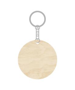 ป้ายพวงกุญแจไม้ พร้อมแกะสลัก ทรงกลม(Circle) ไม้อัดขาว ขนาด 5.5 x 12 CM