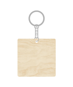 ป้ายพวงกุญแจไม้ พร้อมแกะสลัก ทรงสี่เหลี่ยมจัตุรัส(Square) ไม้
