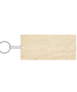 ป้ายพวงกุญแจไม้ พร้อมแกะสลัก ทรงสี่เหลี่ยมผืนผ้า(Rectangle) ไม้อัดขาว
