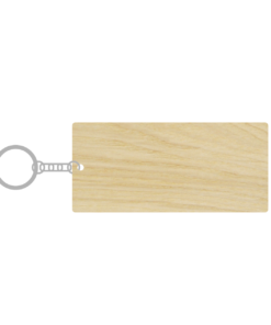 ป้ายพวงกุญแจไม้ พร้อมแกะสลัก ทรงสี่เหลี่ยมผืนผ้า(Rectangle) ไม้อัดแอช