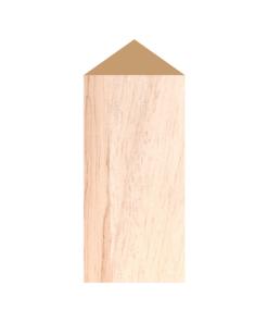 ป้ายตั้งโต๊ะไม้ ทรงสามเหลี่ยม(Triangle) ไม้ยางพารา ตกแต่งบ้าน