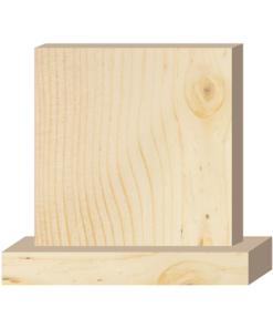 ป้ายตั้งโต๊ะไม้ ทรงสี่เหลี่ยม(Square+Base) ไม้สน