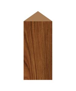 ป้ายตั้งโต๊ะไม้ ทรงสามเหลี่ยม(Triangle) ไม้สัก ตกแต่งบ้าน