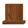 ป้ายตั้งโต๊ะไม้ ทรงสี่เหลี่ยม(Square+Base) ไม้สัก ตกแต่งบ้าน บ้านสวย