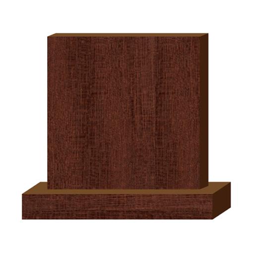 ป้ายตั้งโต๊ะไม้ ทรงสี่เหลี่ยม(Square+Base) ไม้เนื้อแข็ง ตกแต่งบ้าน บ้านสวย