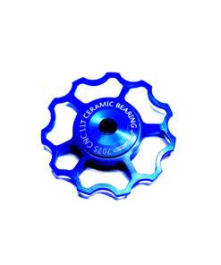 ลูกรอกจักรยาน AEST Jockey Wheel สีน้ำเงิน