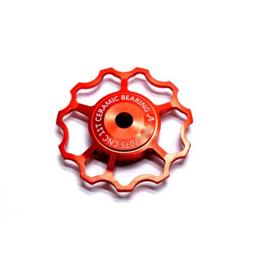 ลูกรอกจักรยาน AEST Jockey Wheel สีแดง