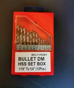 ชุดดอกสว่านเจาะเหล็กไฮสปีด BULLET 13 ตัว/ชุด ระบบหุน/นิ้ว NO.4